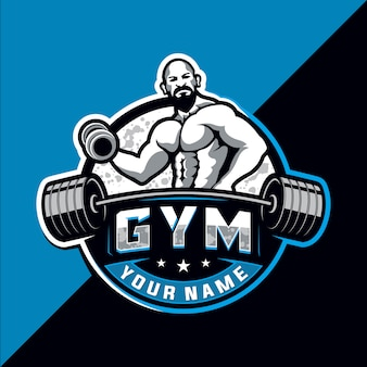 Bodybuilding and gym esport logo design