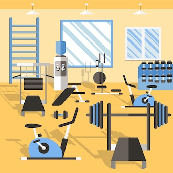 Bodybuilding gym illustration