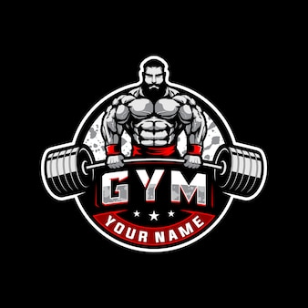 Bodybuilding and gym logo