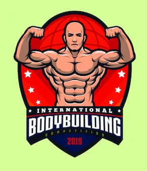 Bodybuilding logo template