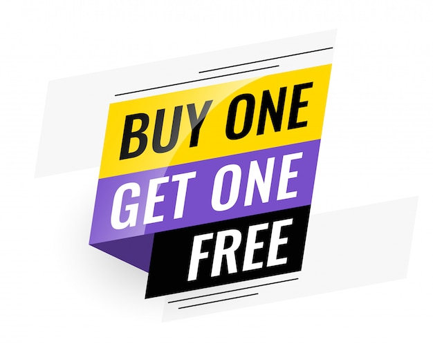 Bogo (buy one get one) free sale banner