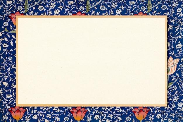 Bohemian fabric frame vector william morris pattern