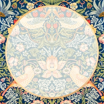 Cornice in tessuto bohémien vettore william morris pattern