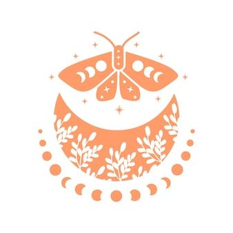 蝶とムーンフェイズのボヘミアンムーン