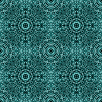 Bohemian oriental teal gem stone mandala seamless pattern