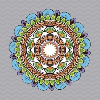Bohemic multicolored mandala