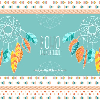 Boho background in hippie style