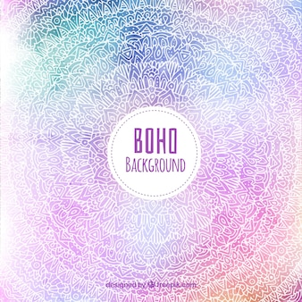 Boho background with hippie elements
