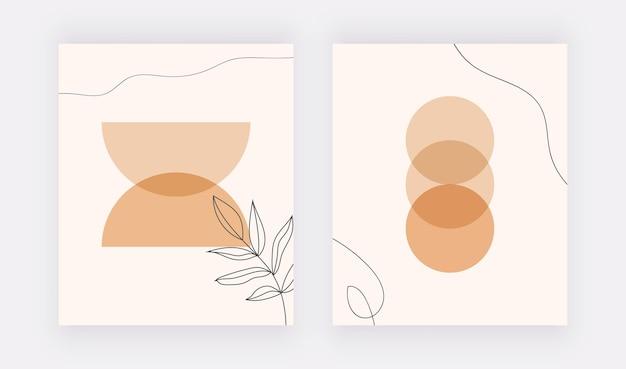 Настенные рисунки с ботаническими мотивами в стиле бохо.