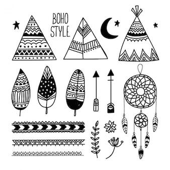 Коллекция boho фантастических предметов