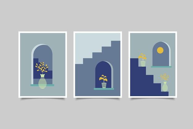 壁の装飾のための自由奔放に生きる現代