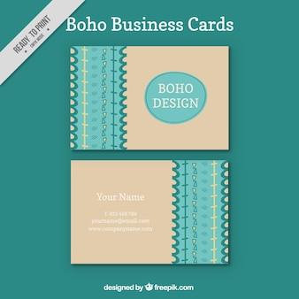 Boho carte aziendali