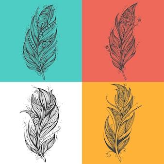 Boho feather illustration