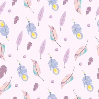 보헤미안 깃털 패턴