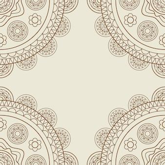 Boho floral mandalas frame