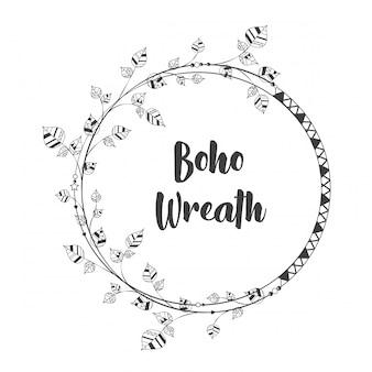 Boho floral wreath design