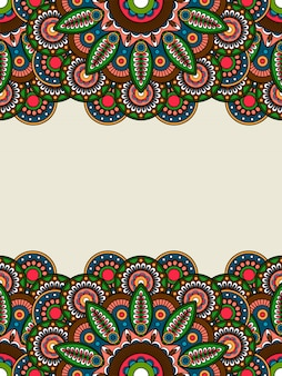 Boho hippie colored floral borders