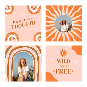 Boho instagram posts collection