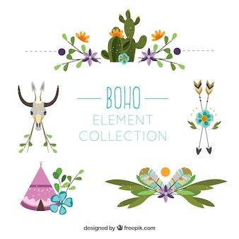 Boho ornaments set