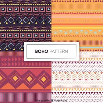 フラットデザインのbohoパターンコレクション