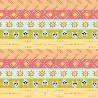 Boho pattern with different elements
