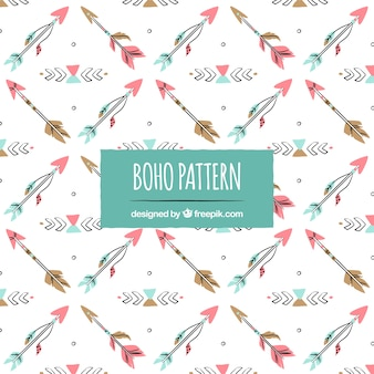 Boho pattern with hippie style