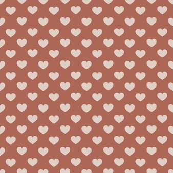 Boho seamless pattern with hearts. can be used for textile, wrapping, wallpaper.