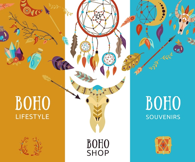 Boho souvenir lifestyle decorative banners