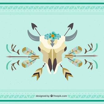 Boho style background with flat design