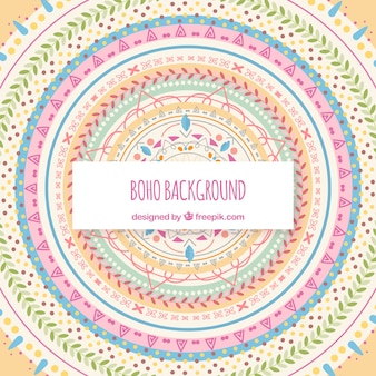 Boho style background with flat design