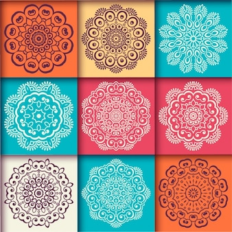 Boho style backgrounds collection