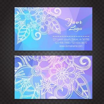 Boho style business card