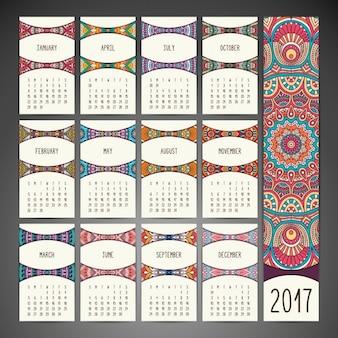 自由奔放に生きるスタイルのカレンダーのデザイン