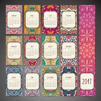 Boho style calendar design