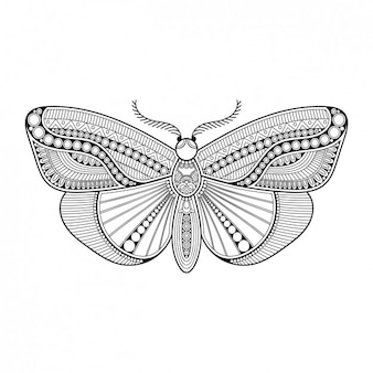 Boho style decorative butterfly