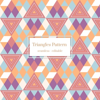 다채로운 삼각형 boho 스타일 기하학적 완벽 한 패턴