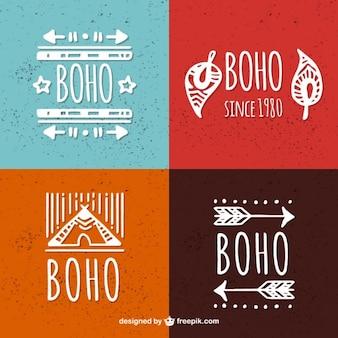 Boho style logo templates