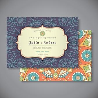 自由奔放に生きるスタイルの結婚式の招待状