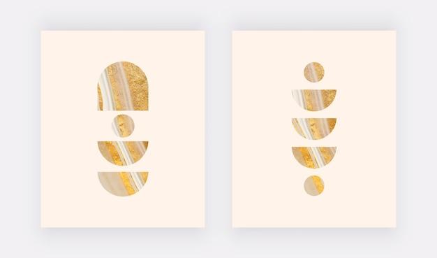 Настенные принты в стиле бохо с геометрическими жидкими формами