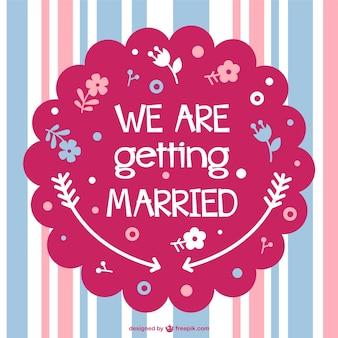 Layout di carta di nozze vettoriali gratis