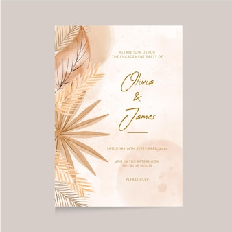 自由奔放に生きる結婚式の招待状