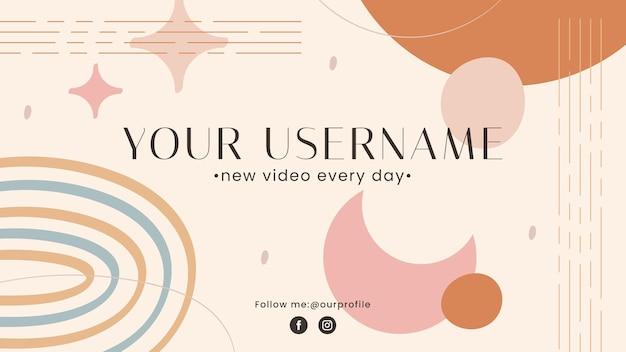 Boho 유튜브 채널 아트 템플릿