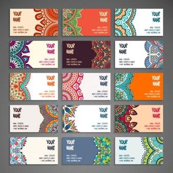 Boho стиль коллекции визитных карточек