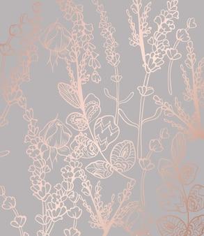 Старинные цветы шаблон boho