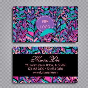 Визитная карточка стиля boho