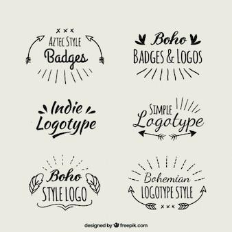 Рукописные логотипы boho