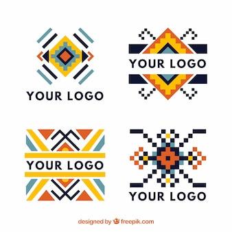 Ассортимент цветных логотипов boho