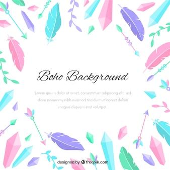 Bohoの羽の背景