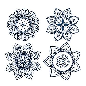Значки мандалы в стиле boho
