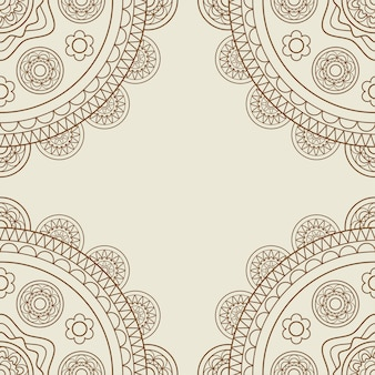 Рамка boho с цветочными мандалами